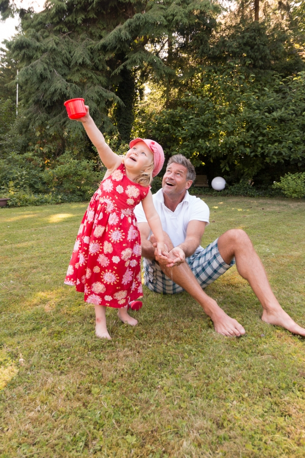 Familienshooting Papa und Tochter